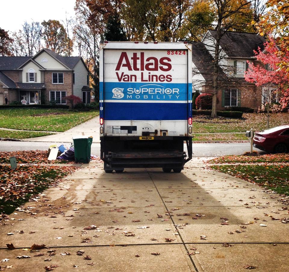 The Van Pulls Away